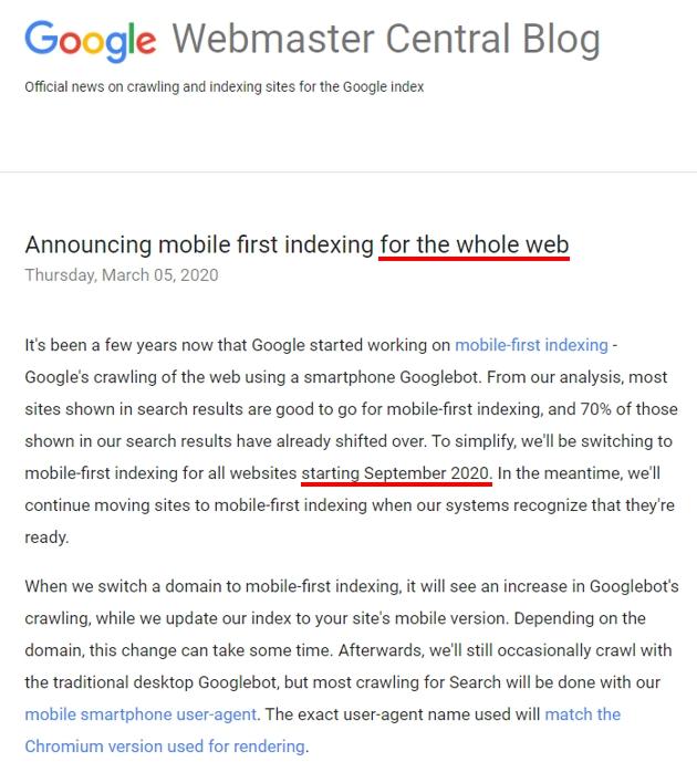 グーグル・モバイル・ファースト・インデックス(MFI)について
